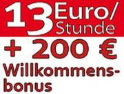 13 EUR Stundenlohn,