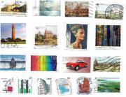 18 Briefmarken aus