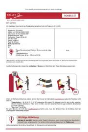 2x Thalys Ticket