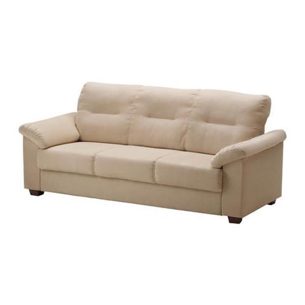 Ikea Schreibtisch Frederick ~ 3er Couch Sofa, Modell Knislinge (IKEA), sandfarben Breite 205 cm