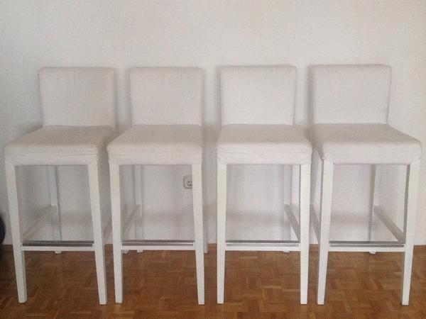4 barhocker ikea henriksdal wei er beiger bezug sehr guter zustand zur abholung in m nchen. Black Bedroom Furniture Sets. Home Design Ideas
