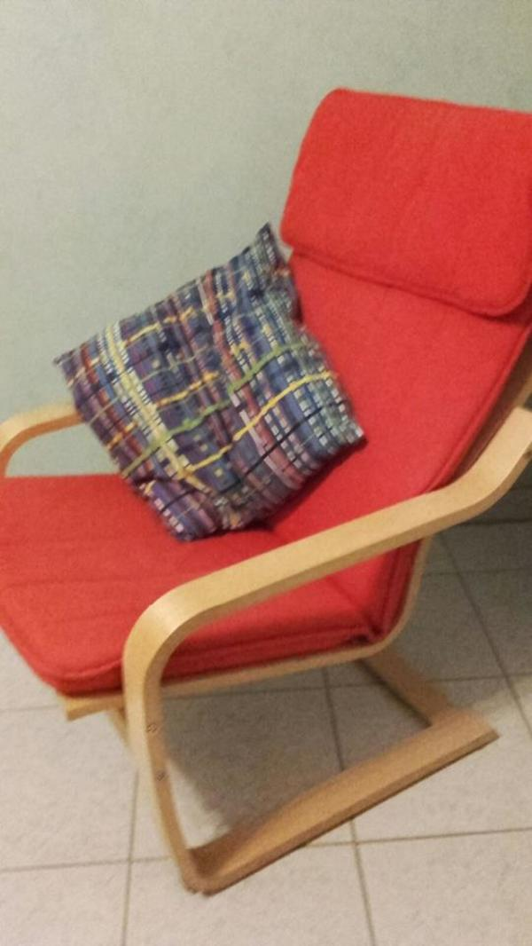 ikea sessel rot gebraucht kaufen nur 2 st bis 60 g nstiger. Black Bedroom Furniture Sets. Home Design Ideas