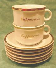 6 Cappuccino-Tassen
