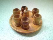 6 Holz-Eierbecher