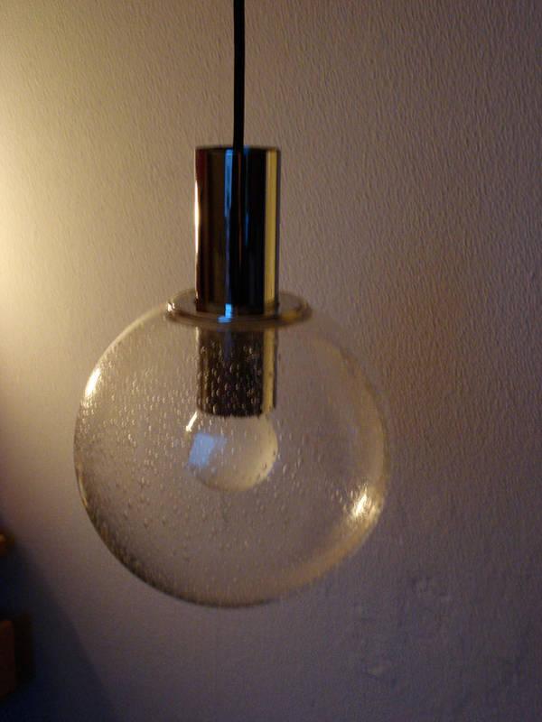 70er kugellampe glas chrom durchmesser 12 cm in bayreuth for Lampen 70er style