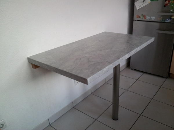 alno impuls l k che birke montana m arbeitsplatte marmorgrau in heidelberg k chenzeilen. Black Bedroom Furniture Sets. Home Design Ideas