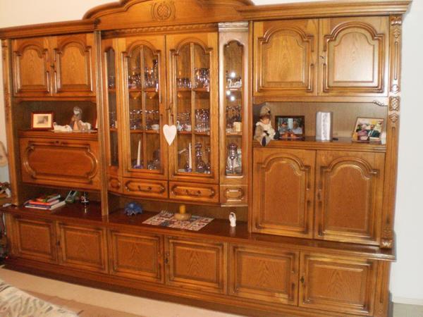 wohnzimmerschrank schrankwand eiche rustikal interessante ideen f r die. Black Bedroom Furniture Sets. Home Design Ideas