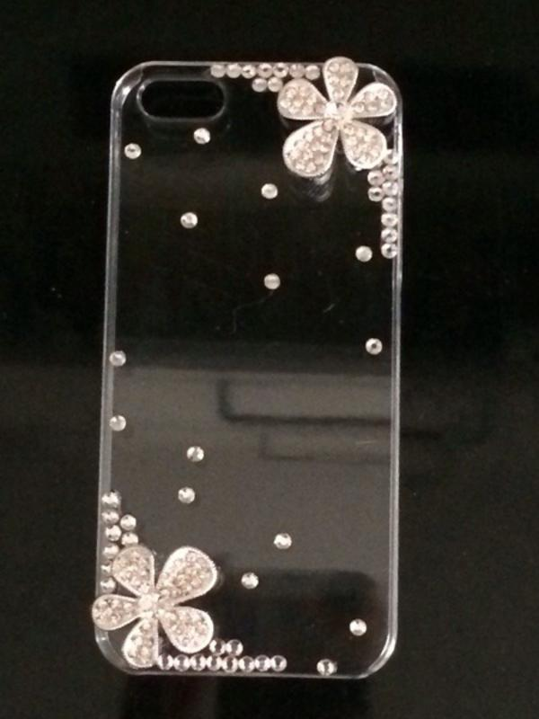 apple iphone 5 5s h lle case glitzer strass blume neu in. Black Bedroom Furniture Sets. Home Design Ideas