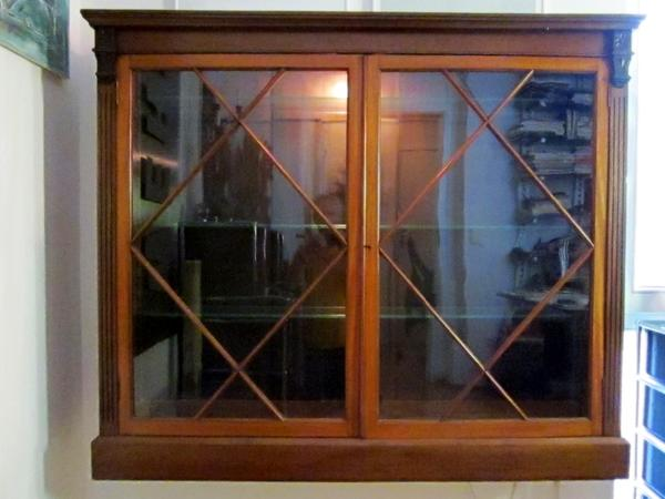 aufsatz vitrine englisch antik um 1900 mahagoni massiv. Black Bedroom Furniture Sets. Home Design Ideas
