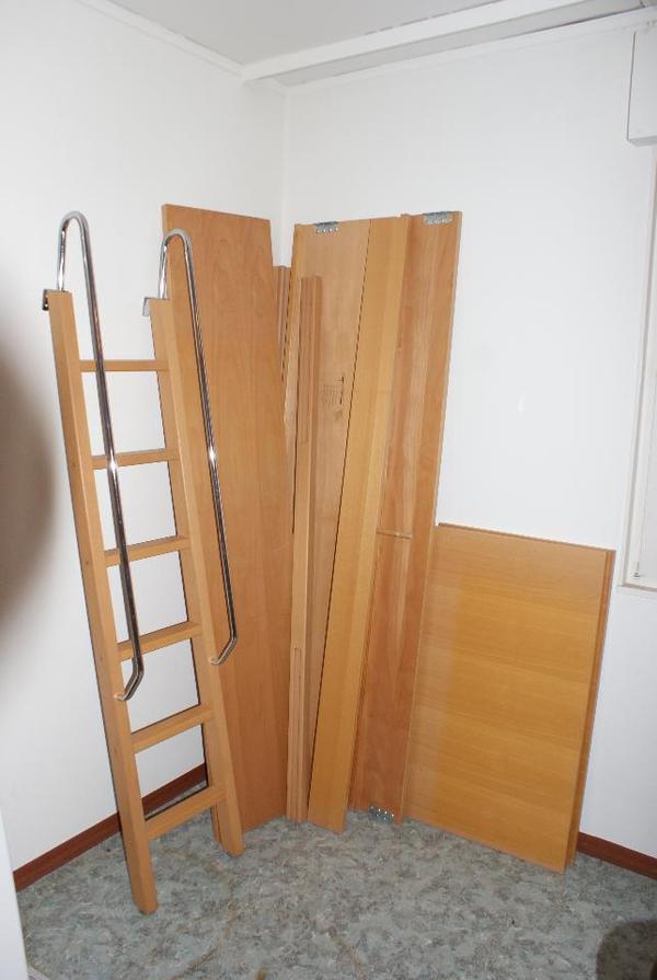bett hochbett kinderbett buche stabil in wolfschlugen. Black Bedroom Furniture Sets. Home Design Ideas