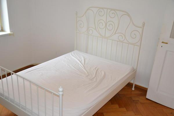 bett ikea leivrik mit matratze in m nchen betten kaufen und verkaufen ber private kleinanzeigen. Black Bedroom Furniture Sets. Home Design Ideas