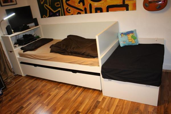 ikea flaxa bett mit kopfteil. Black Bedroom Furniture Sets. Home Design Ideas