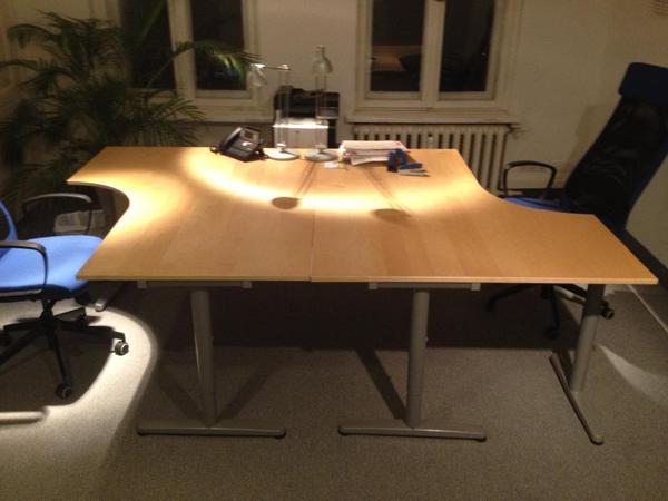 Ikea Gardinen Deckenbefestigung ~ Schreibtisch Ikea Galant Serie In Buche Ikea Galant Schreibtisch In