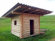 Blockhütte Naturstamm