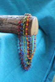 Blütenreige Glas Perlenkette