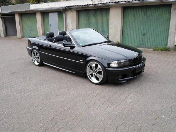 bmw e46 320 cabrio m3 packet mit 19 zoll alu gewinde. Black Bedroom Furniture Sets. Home Design Ideas