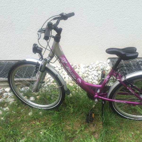 bocas kinderfahrrad 24 zoll lila silber in karlsruhe. Black Bedroom Furniture Sets. Home Design Ideas