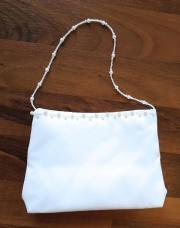 Brauttasche - weiß - Satin -