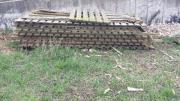 Brennholz , alte Holzzaunfelder