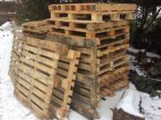 Brennholz -Holzpaletten