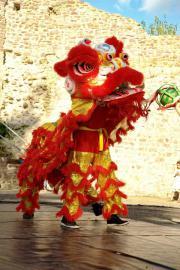 Chinesisches Löwentanzkostüm
