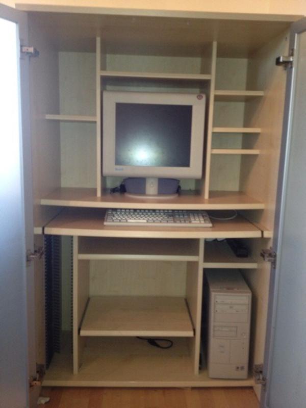 computer schrank in hallbergmoos computerm bel kaufen und verkaufen ber private kleinanzeigen. Black Bedroom Furniture Sets. Home Design Ideas