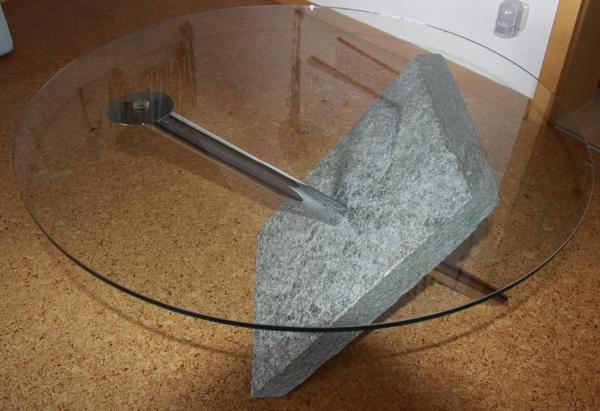 Wohnzimmertisch Rund Glas  Moderner Couchtisch Holz mit
