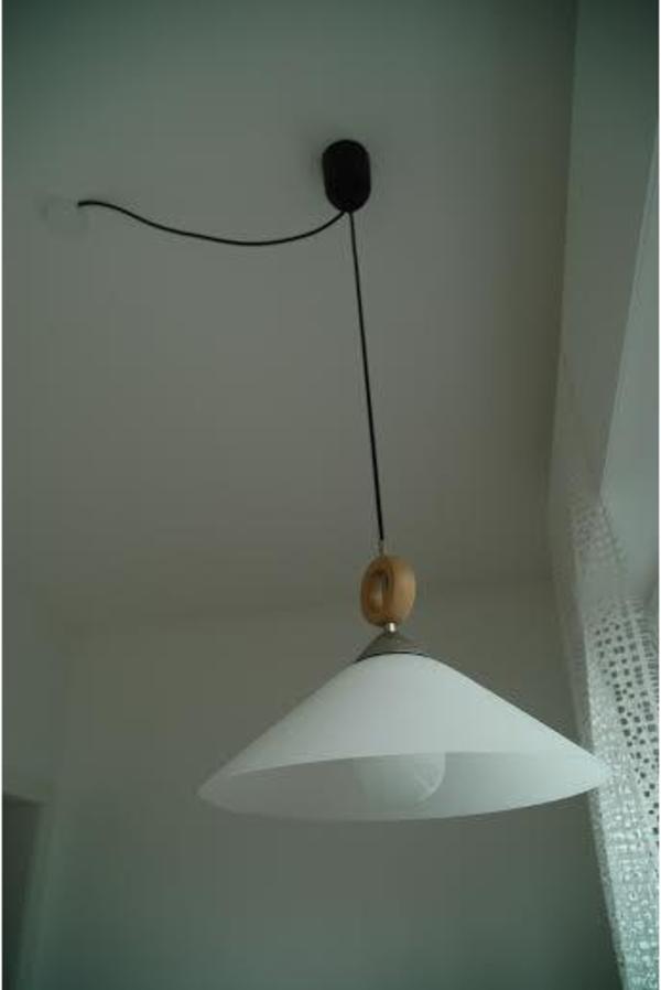 deckenlampe h henverstellbar glas wei satiniert. Black Bedroom Furniture Sets. Home Design Ideas