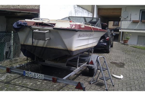 draco 1700 motorboot zum selbstausbau abzugeben trailer optional dabei in ilvesheim. Black Bedroom Furniture Sets. Home Design Ideas