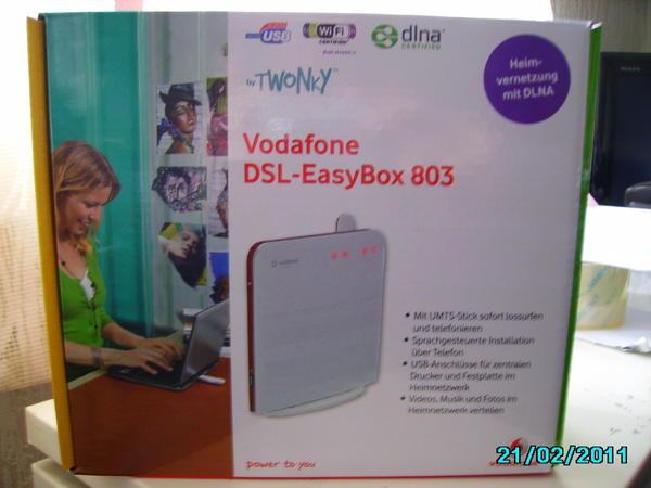 dsl easybox 803 neuwertig in eitorf df modems isdn dsl kaufen und verkaufen ber private. Black Bedroom Furniture Sets. Home Design Ideas