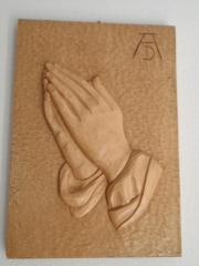 Dürerhände, handgeschnitzt