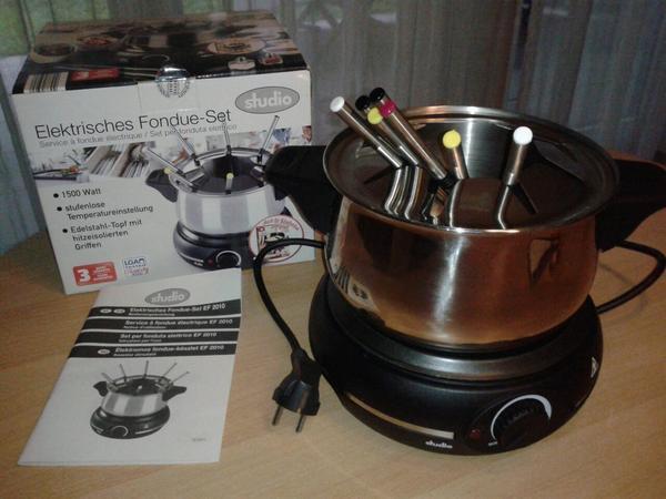 elektrisches fondue set in feldkirch haushaltsger te hausrat alles sonstige kaufen und. Black Bedroom Furniture Sets. Home Design Ideas