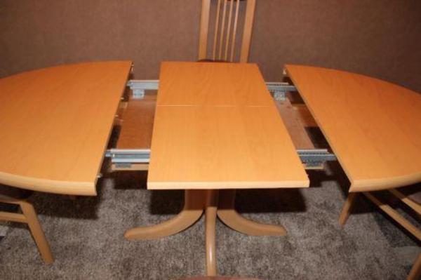 Esszimmer Tisch Oval mit 4 Stühlen Buche Hell in Viernheim - Speisezimmer, Essecken kaufen und ...