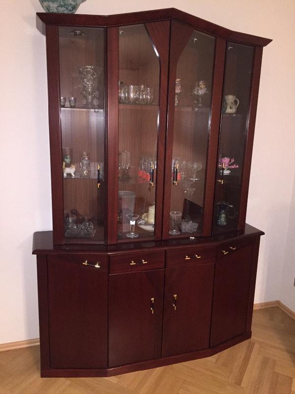 esszimmer vitrine mahagoni in ludwigshafen stilm bel bauernm bel kaufen und verkaufen ber. Black Bedroom Furniture Sets. Home Design Ideas