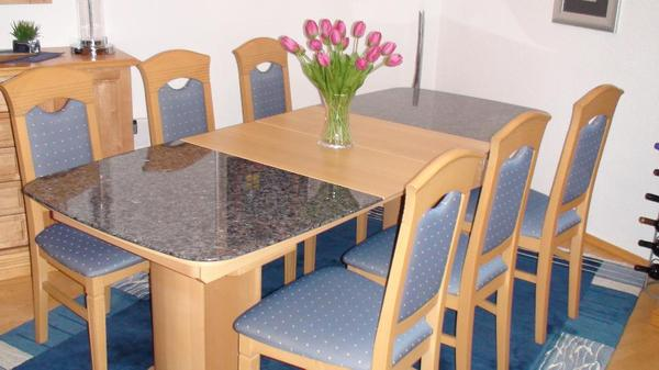 esszimmertisch ahorn granit esstisch in bobenheim roxheim. Black Bedroom Furniture Sets. Home Design Ideas