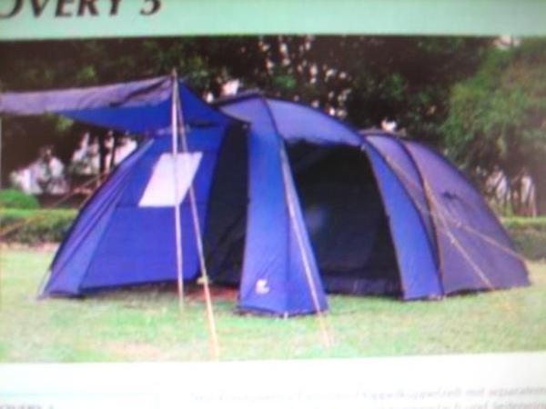 Zelt Discovery 5 : Familien doppelkuppelzelt discovery campingartikel aus