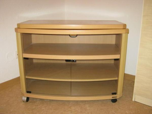 fernsehschrank mit glast ren eilt in berlin phono tv. Black Bedroom Furniture Sets. Home Design Ideas