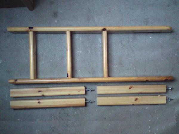 Flexa Classic Hochbett Erweiterungs-Set: Leiter & Pfosten 80-01309 ...