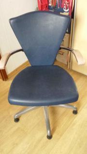 Frisierstuhl blau Höhenverstellbar