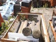 Garten-Holz-Palisaden