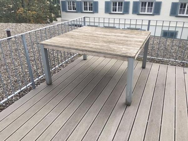Gartenmobel Holz Alu Gunstig : Gartentisch zu verschenken gegen Selbstabholung in Dornbirn