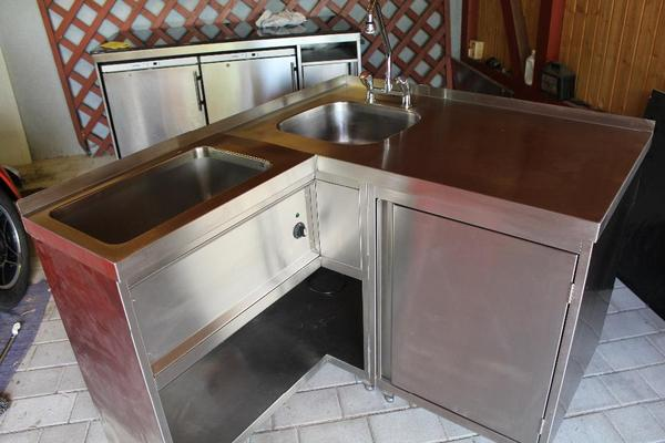 gastro edelstahl ecksp le inkl bainmarie in rimbach. Black Bedroom Furniture Sets. Home Design Ideas