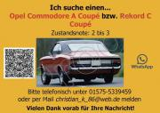 Gesuch: Opel Commodore