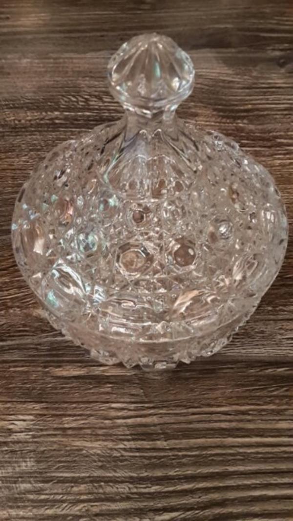 glasschale mit deckel kaufen gebraucht und g nstig. Black Bedroom Furniture Sets. Home Design Ideas