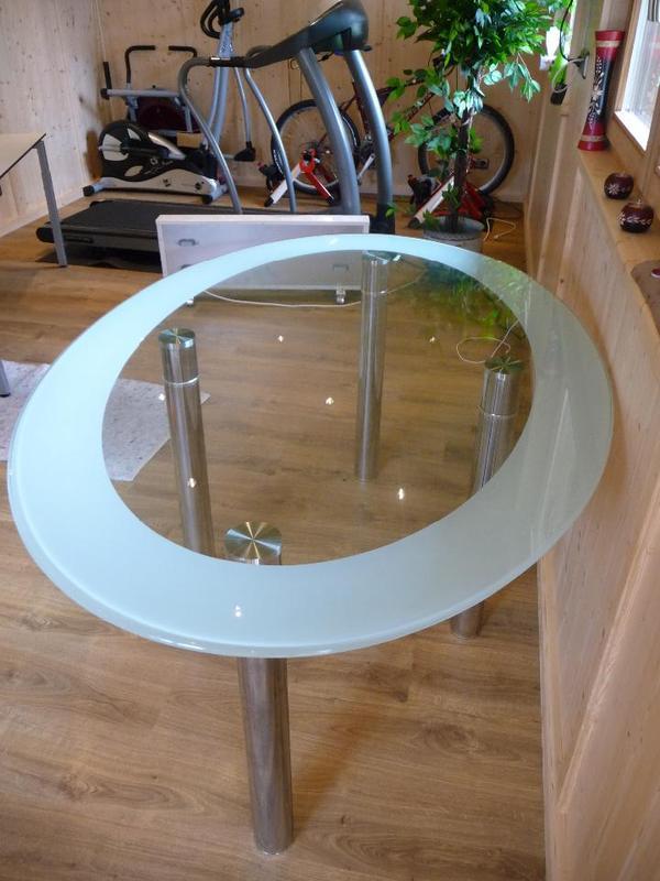 Glastisch oval kaufen gebraucht und g nstig - Glastisch oval ...