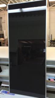 Glastür schwarz opak