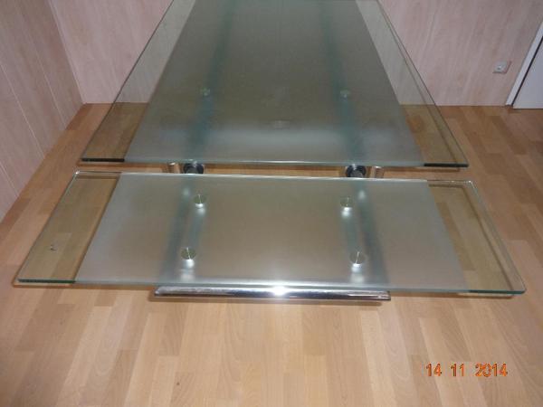 glastisch ausziehbar neu und gebraucht kaufen bei. Black Bedroom Furniture Sets. Home Design Ideas