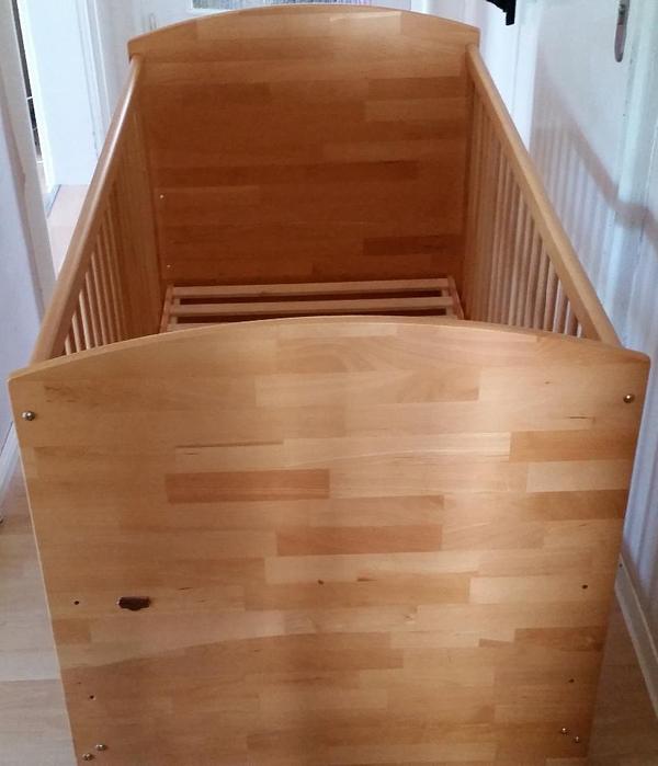 herlag kinderbett anna massivholz buche 70x140 inkl matratze in m nchen baby und. Black Bedroom Furniture Sets. Home Design Ideas