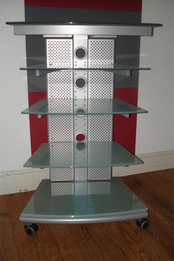 hifi rack in modernem zeitlosen design gestell f r multimedieanlage stereoanlage. Black Bedroom Furniture Sets. Home Design Ideas