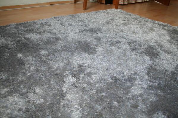 hochfloriger teppich shaggy in grau anthrazit 220x160cm in m nchen teppiche kaufen und. Black Bedroom Furniture Sets. Home Design Ideas
